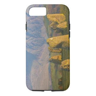 Coque iPhone 7 Cercle en pierre de Castlerigg, secteur de lac,