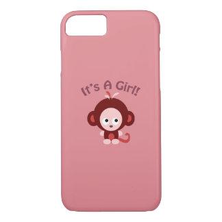 Coque iPhone 7 C'est une fille ! Singe mignon