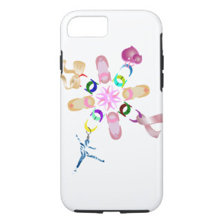 Coque iPhone 7 Chaîne chanceuse florale assortie par ballet