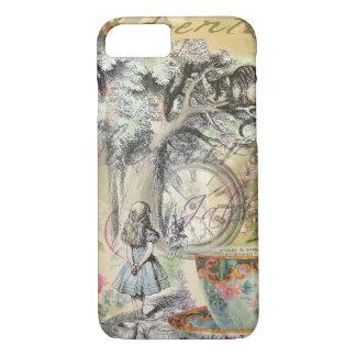 Coque iPhone 7 Chat Alice de Cheshire au pays des merveilles