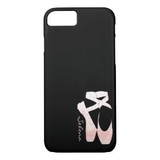 Coque iPhone 7 Chaussures de ballet molles personnalisées de rose