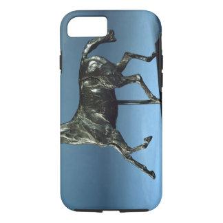 Coque iPhone 7 Cheval de trot (bronze)