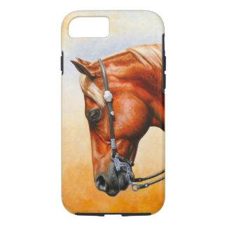Coque iPhone 7 Cheval occidental de quart de plaisir d'oseille