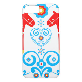 Coque iPhone 7 Chevaux rouges de Dala