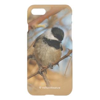 Coque iPhone 7 Chickadee Noir-Couvert affamé plein d'espoir
