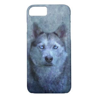 Coque iPhone 7 Chien de traîneau bleu de loup