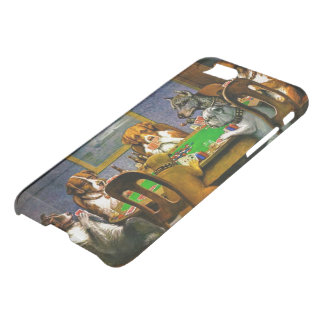 Coque iPhone 7 Chiens jouant au poker