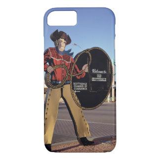Coque iPhone 7 Chiffre signe de cowboy accueillant des touristes