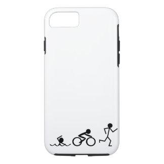 Coque iPhone 7 Chiffres de bâton de triathlon