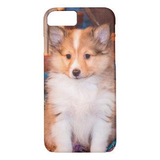 Coque iPhone 7 Chiot de chien de berger de Shetland se reposant