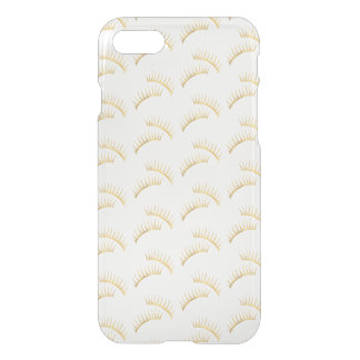 Coque iPhone 7 Cils d'or