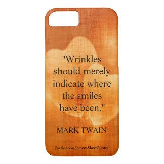Coque iPhone 7 Citation d'anniversaire de Mark Twain avec des