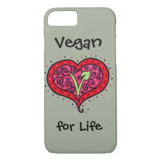 Coque iPhone 7 Coeur végétalien