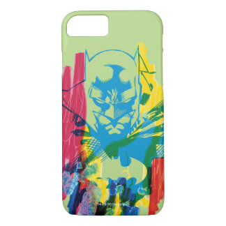 Coque iPhone 7 Collage au néon de marqueur de Batman
