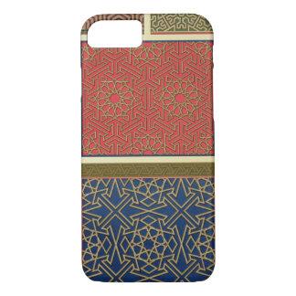 Coque iPhone 7 Compartiments et frontières en bois, 'd'art arabe