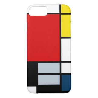 Coque iPhone 7 Composition élevée en recherche Piet Mondrian