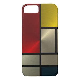 Coque iPhone 7 Composition en Piet Mondrian (Goldl)