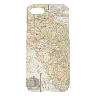 Coque iPhone 7 Comté de large échelle et carte de chemin de fer