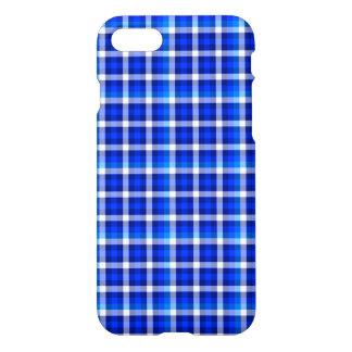 Coque iPhone 7 Conception bleue de mode de motif de contrôle de