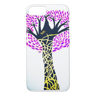 Coque iPhone 7 Conception d'arbre d'art curatif d'Ashi Sharma