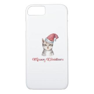 Coque iPhone 7 Conception de Noël de Meowy pour des amoureux de