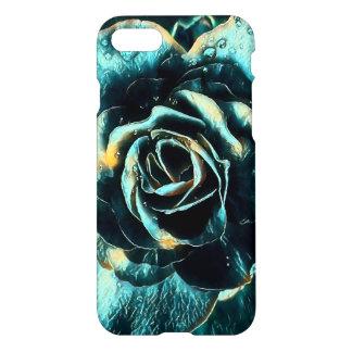 Coque iPhone 7 Conception de rose de bleu