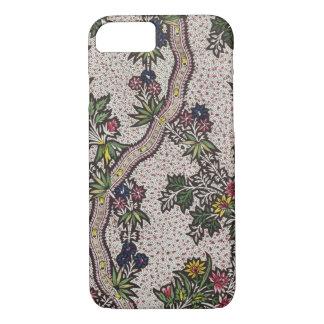 Coque iPhone 7 Conception de textile des formes de plante et de