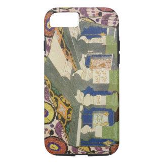 Coque iPhone 7 Conception orientale de paysage (litho de couleur)