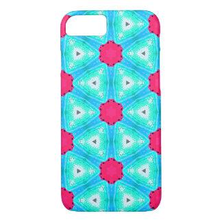 Coque iPhone 7 Conception rose et bleue colorée