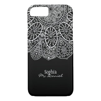 Coque iPhone 7 Conception tirée par la main de cercle de henné