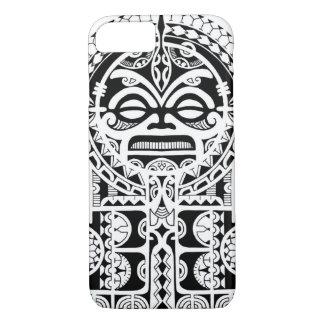 Coque iPhone 7 Conception tribale polynésienne de tatouage avec