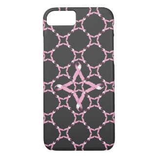 Coque iPhone 7 Conscience rose de cancer du sein de ruban