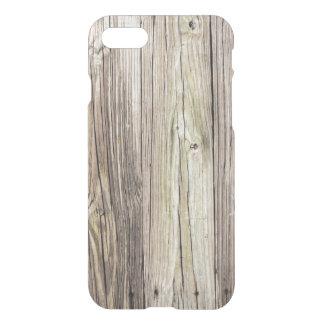 Coque iPhone 7 Conseils en bois patinés naturels de vieux dock