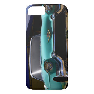 Coque iPhone 7 Convertible vert de Cadillac d'Elvis Presley