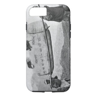 Coque iPhone 7 Coolies portant le coton, 1901 (photo de b/w)