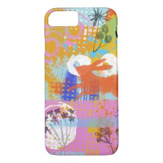 Coque iPhone 7 Copie d'abrégé sur peinture de lapin partout