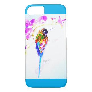 "Coque iPhone 7 Copie de colibri ""de perche violette"""