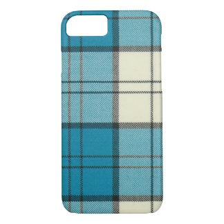 Coque iPhone 7 Coque-Tapis de l'iPhone 7 de tartan de turquoise