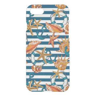 Coque iPhone 7 Coquilles de mer et motif d'ancre