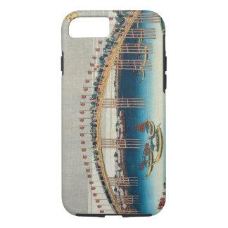 Coque iPhone 7 Cortège au-dessus d'un pont (bois de graveur de