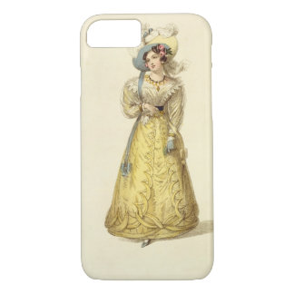Coque iPhone 7 Costume de chariot, plat de mode du R d'Ackermann