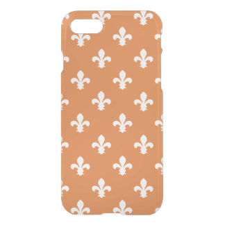 Coque iPhone 7 Cottage Fleur de Lys du sud orange