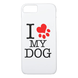 Coque iPhone 7 Couche de cellulaire I love my dog