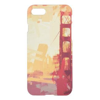 Coque iPhone 7 Coucher du soleil abstrait de Golden Gate de San