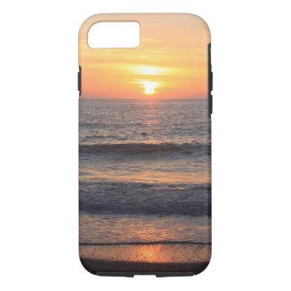 Coque iPhone 7 Coucher du soleil de plage au-dessus de l'océan