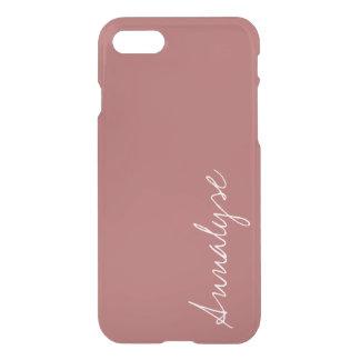 Coque iPhone 7 Coutume chaude de couleur solide de rose rose de