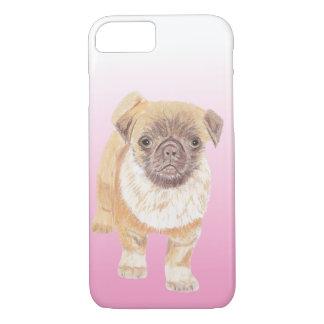 Coque iPhone 7 Couverture de téléphone de carlin, rose
