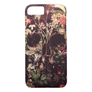 Coque iPhone 7 Crâne de fleur