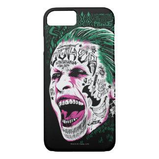 Coque iPhone 7 Croquis riant de tête de joker du peloton | de