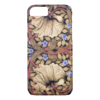 Coque iPhone 7 Cru de mouron de William Morris floral
